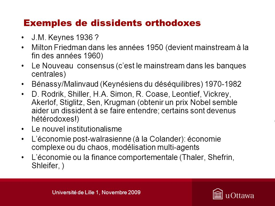 Exemples de dissidents orthodoxes