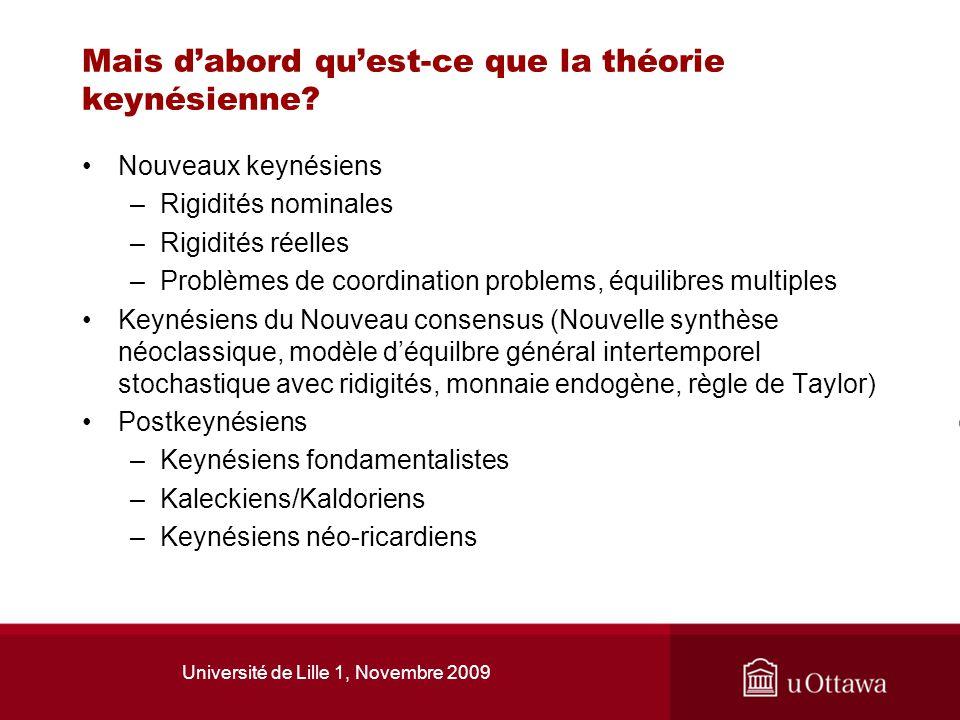 Mais d'abord qu'est-ce que la théorie keynésienne