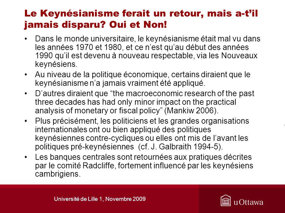 Université de Lille 1, Novembre 2009