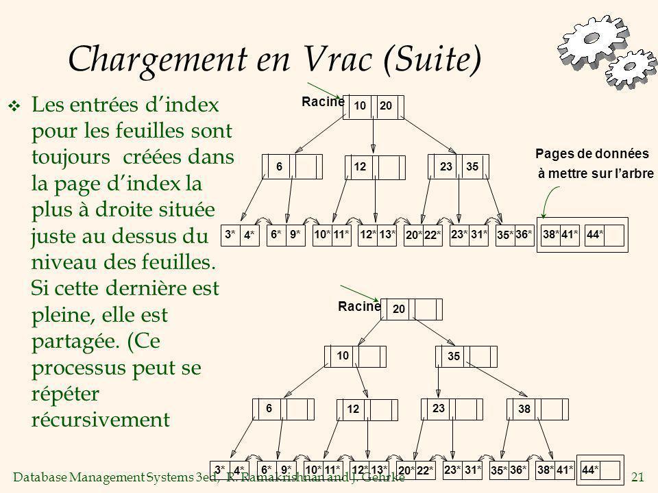 Chargement en Vrac (Suite)
