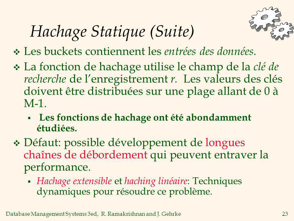 Hachage Statique (Suite)