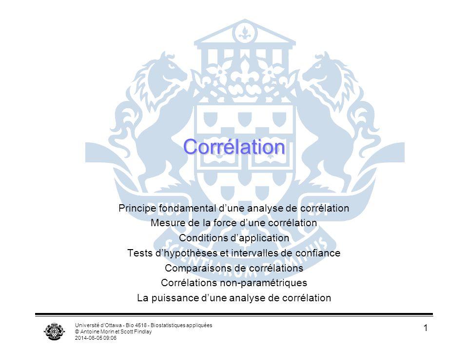 Corrélation Principe fondamental d'une analyse de corrélation