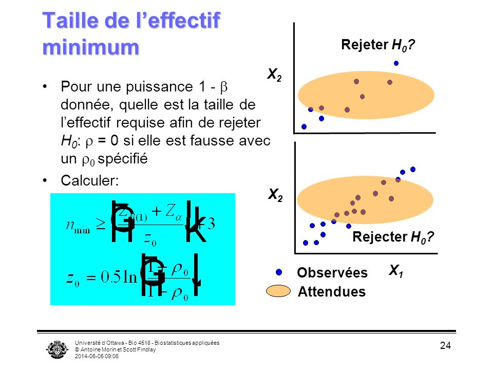 Taille de l'effectif minimum