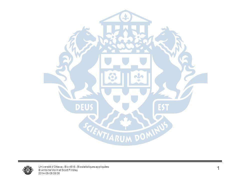 Université d'Ottawa - Bio 4518 - Biostatistiques appliquées