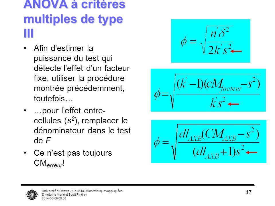 ANOVA à critères multiples de type III
