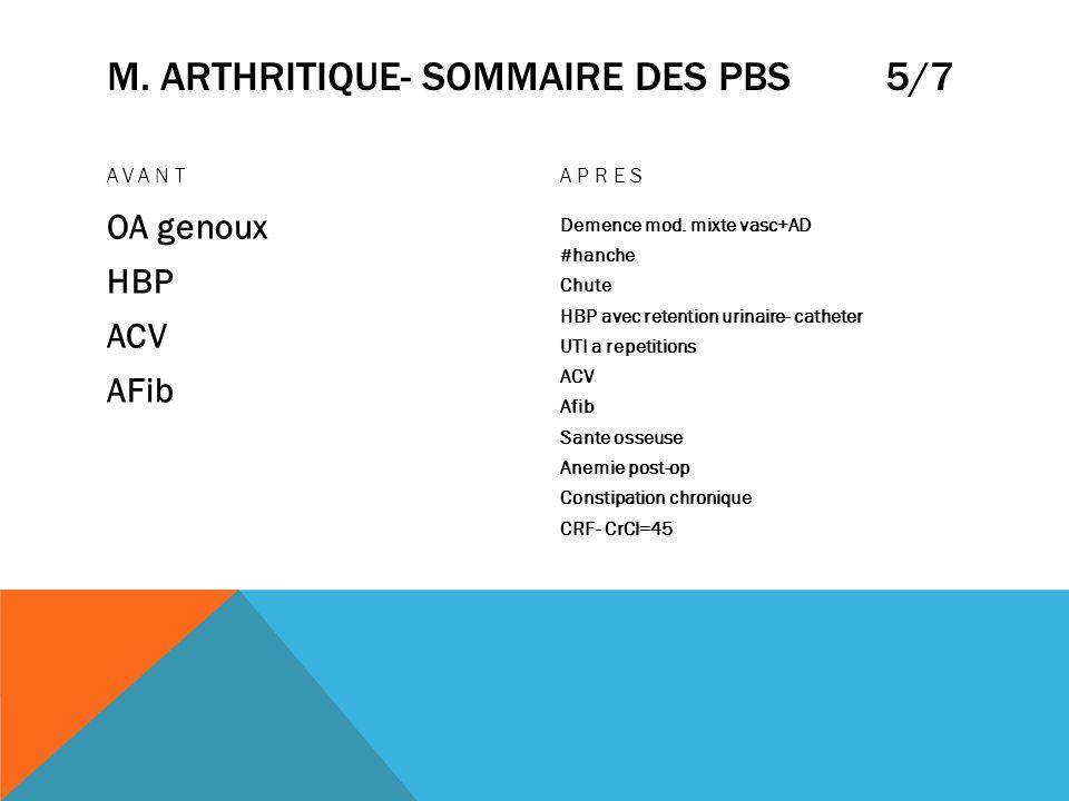 m. arthritique- sommaire des pbs 5/7