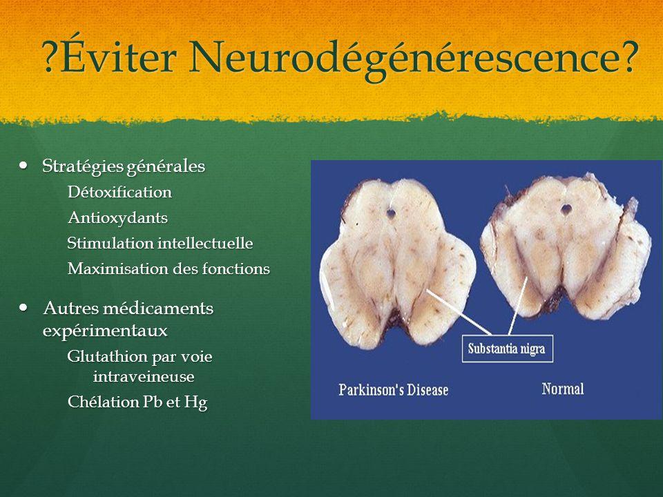 Éviter Neurodégénérescence