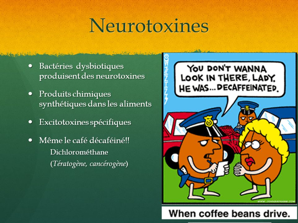 Neurotoxines Bactéries dysbiotiques produisent des neurotoxines