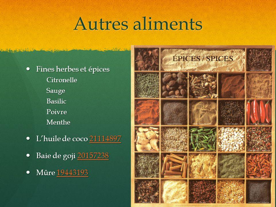 Autres aliments Fines herbes et épices L'huile de coco 21114897