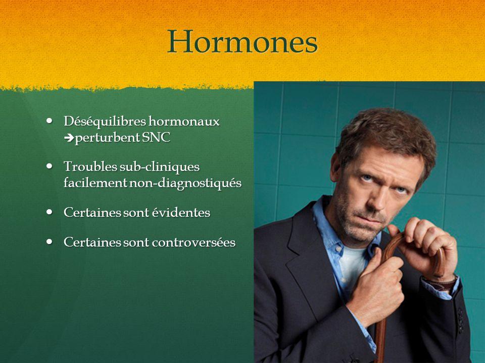 Hormones Déséquilibres hormonaux perturbent SNC