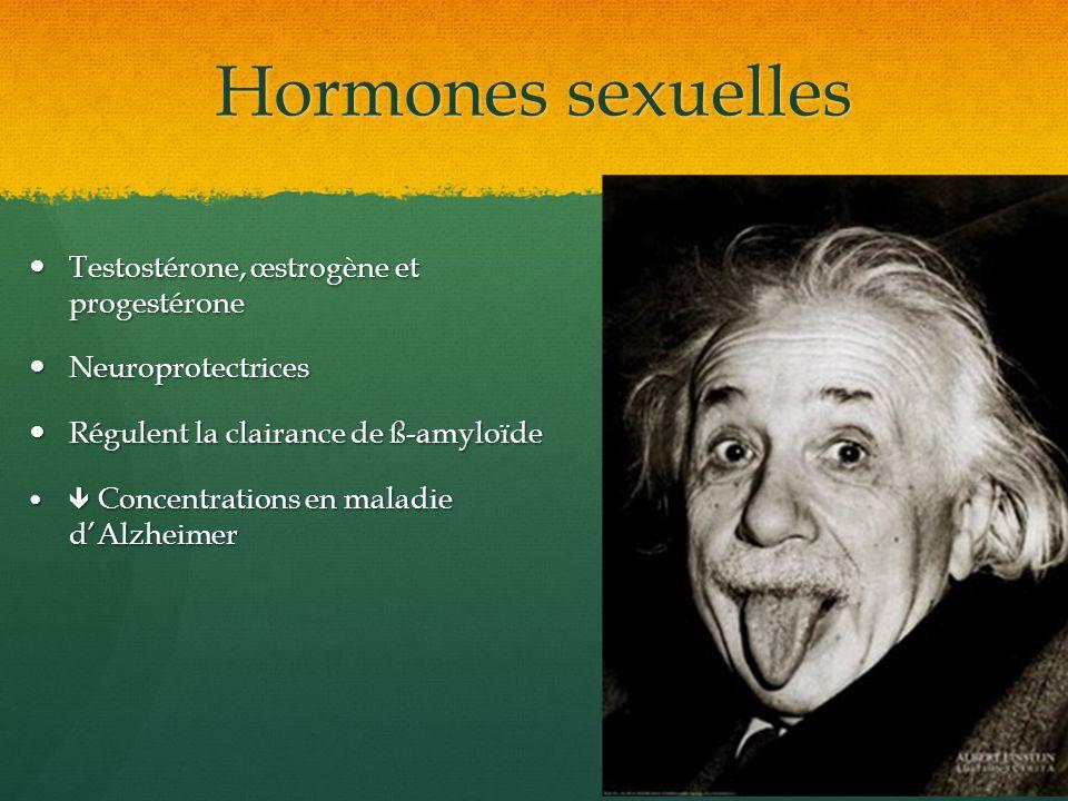 Hormones sexuelles Testostérone, œstrogène et progestérone