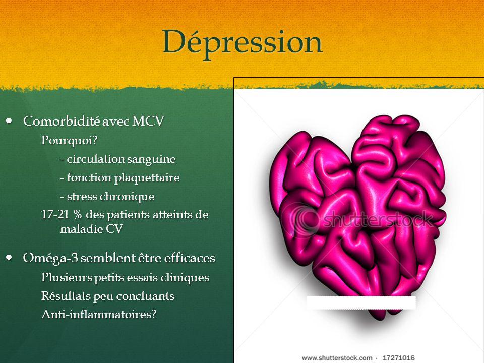 Dépression Comorbidité avec MCV Oméga-3 semblent être efficaces