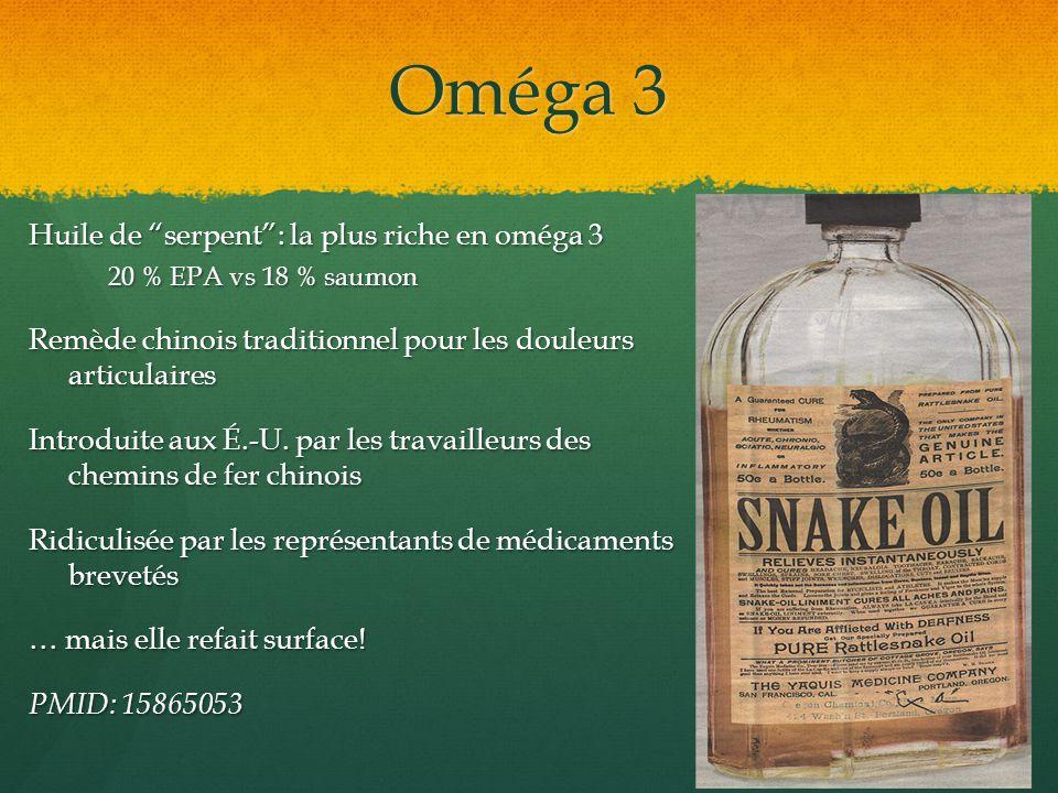 Oméga 3 Huile de serpent : la plus riche en oméga 3
