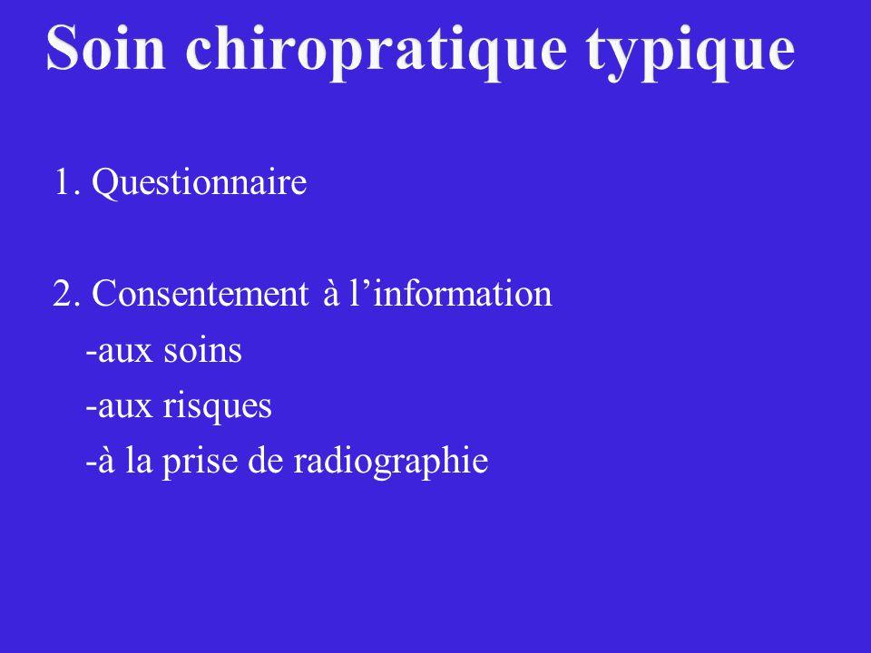 Soin chiropratique typique