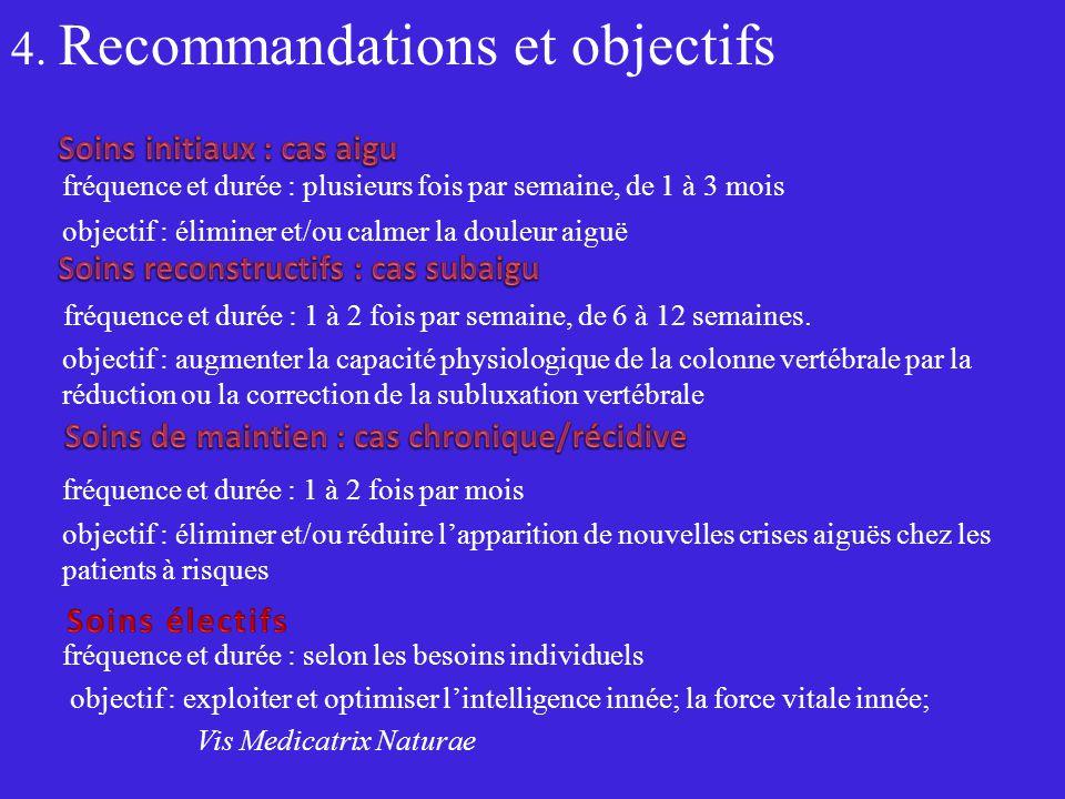 4. Recommandations et objectifs