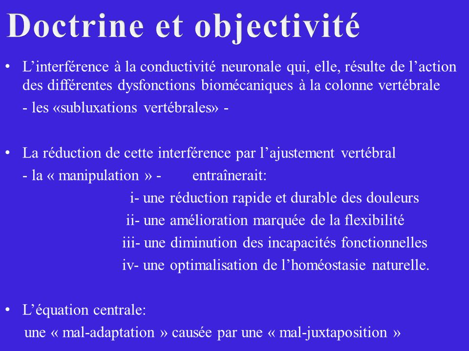 Doctrine et objectivité