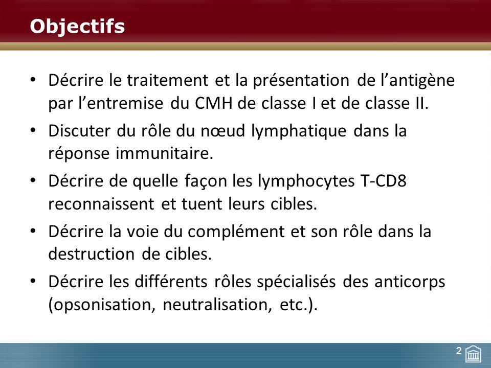 Discuter du rôle du nœud lymphatique dans la réponse immunitaire.