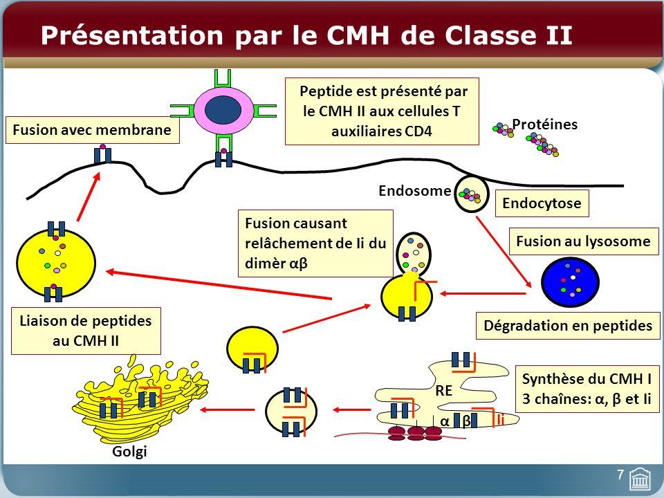 Présentation par le CMH de Classe II