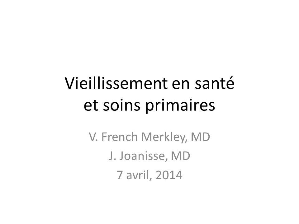 Vieillissement en santé et soins primaires