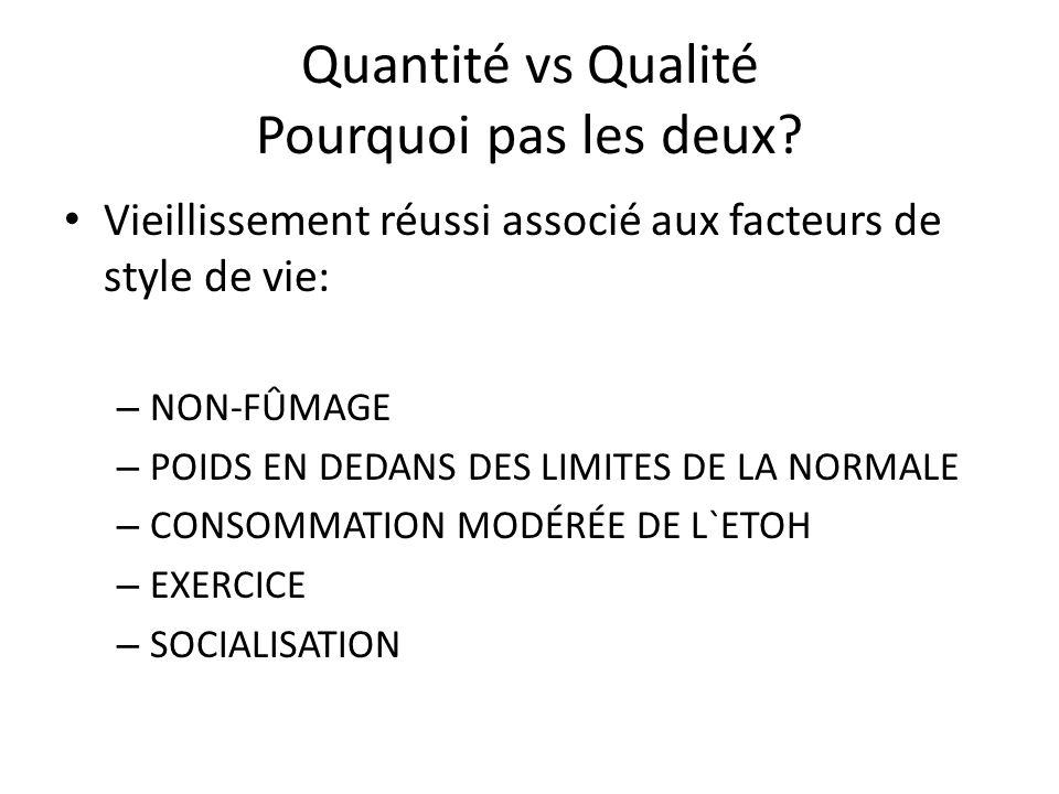 Quantité vs Qualité Pourquoi pas les deux