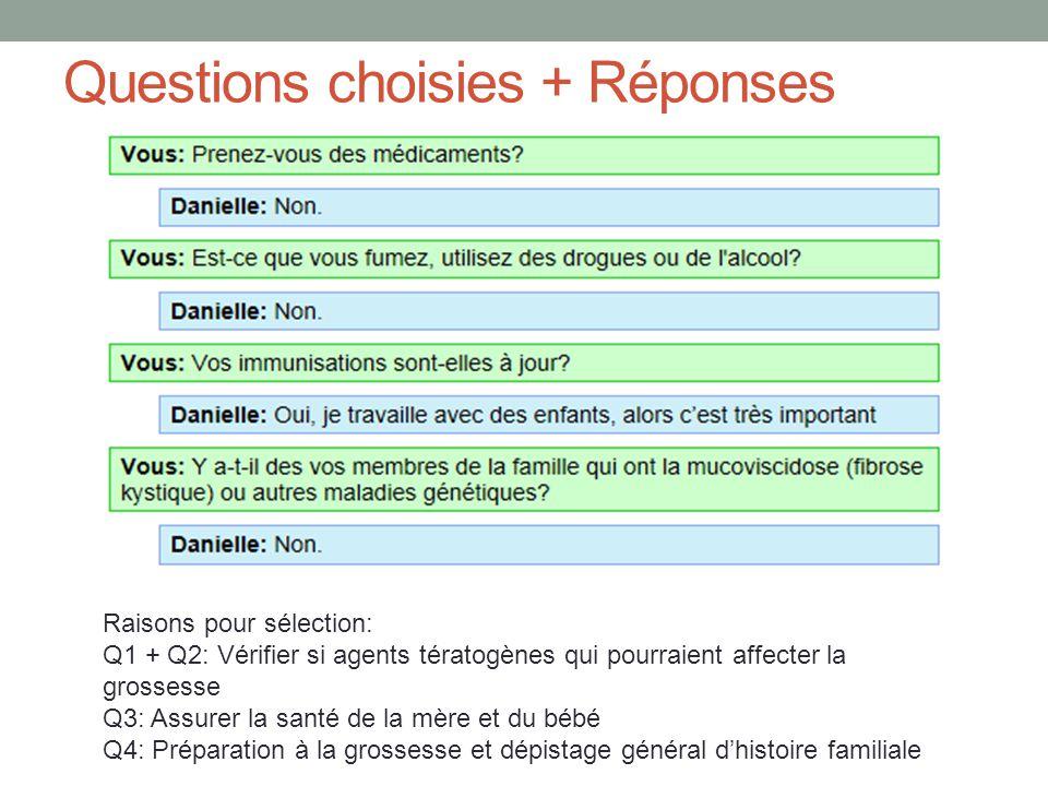 Questions choisies + Réponses