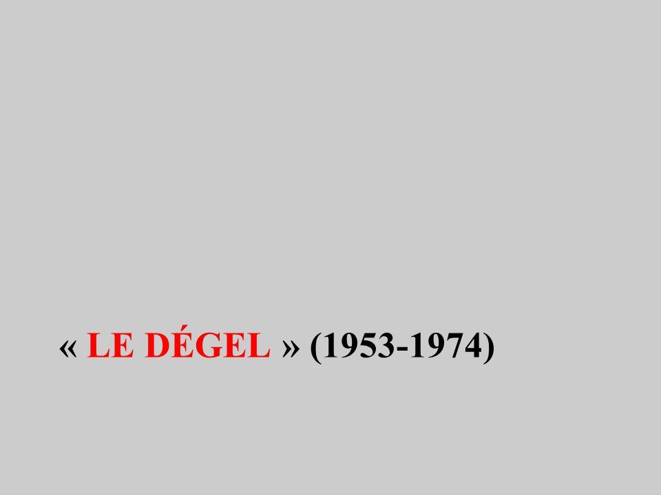 « Le dégel » (1953-1974)