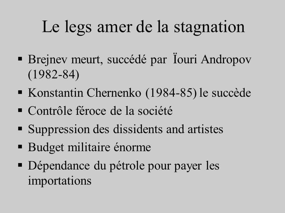 Le legs amer de la stagnation