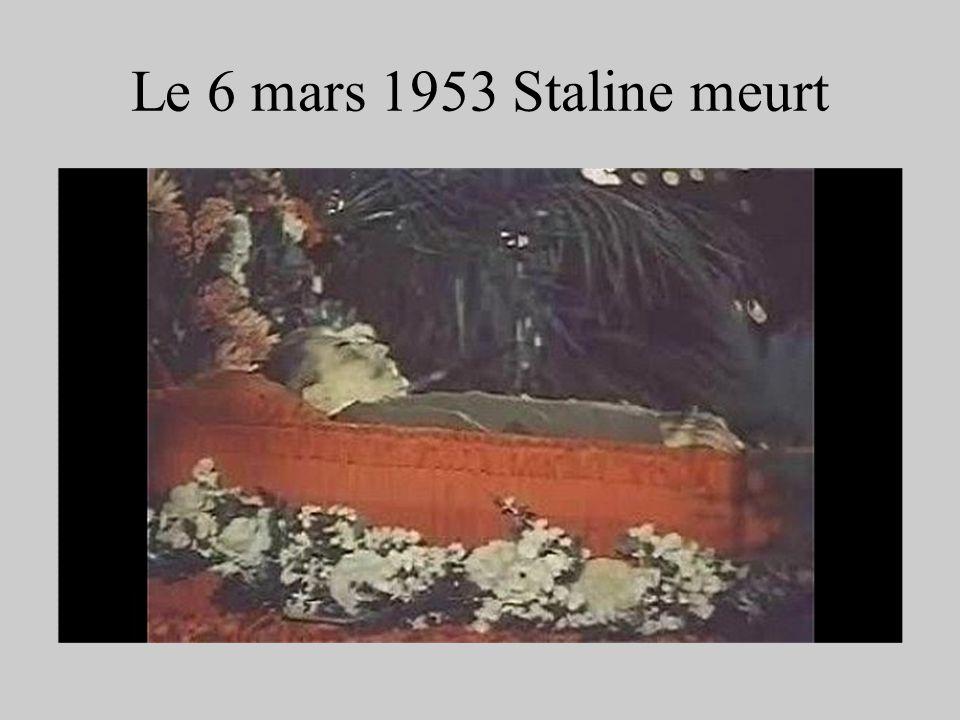Le 6 mars 1953 Staline meurt