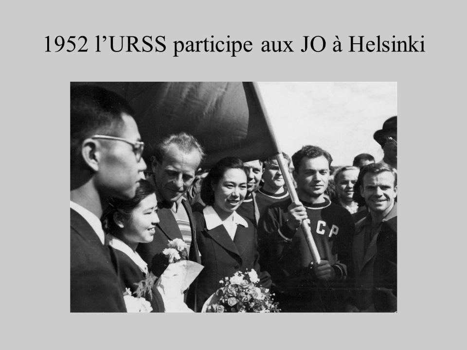 1952 l'URSS participe aux JO à Helsinki