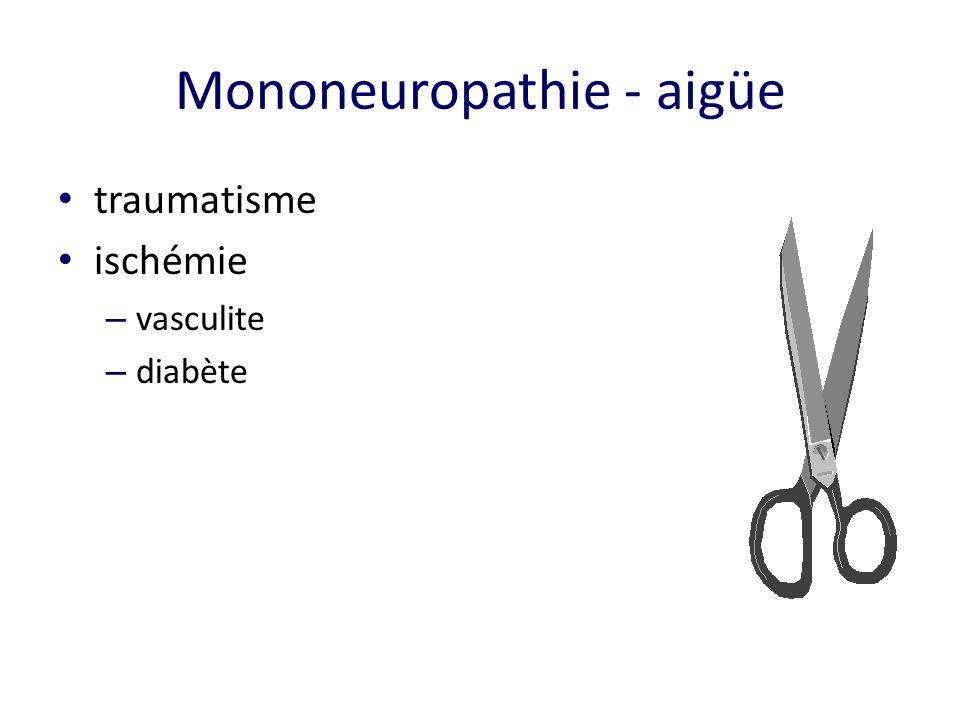 Mononeuropathie - aigüe