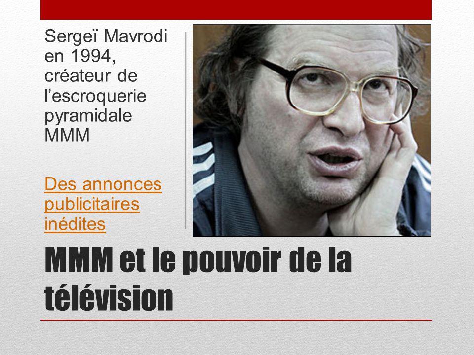 MMM et le pouvoir de la télévision