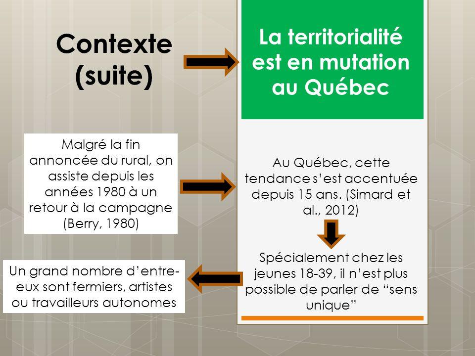 La territorialité est en mutation au Québec