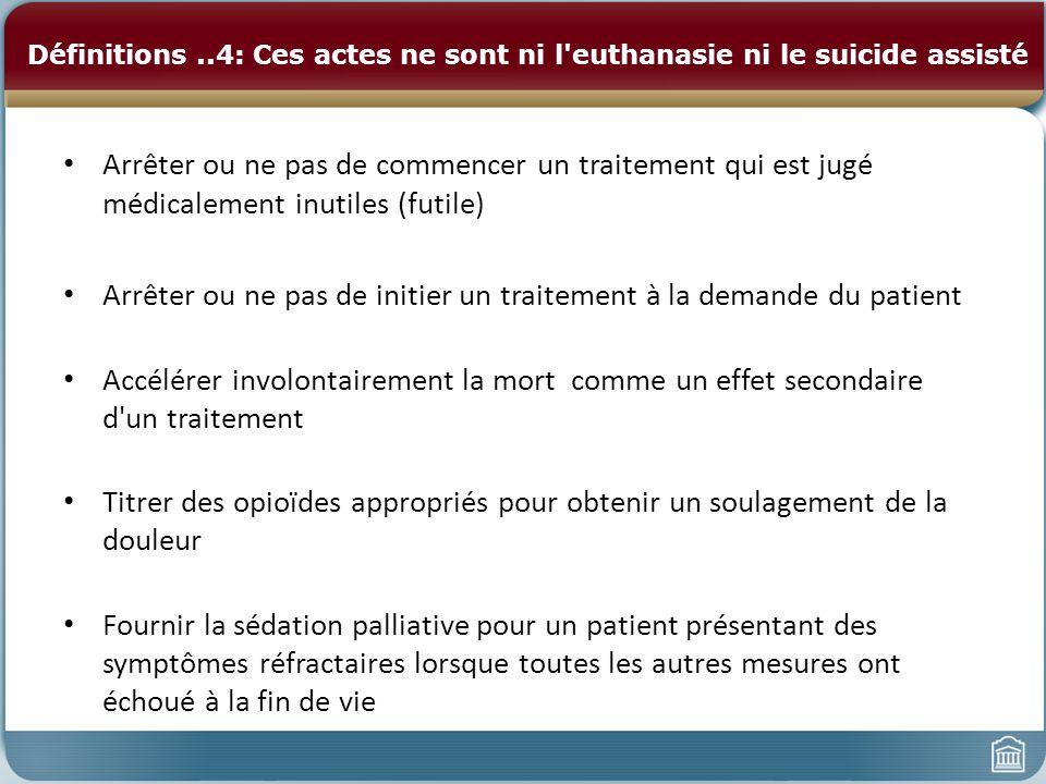 Arrêter ou ne pas de initier un traitement à la demande du patient
