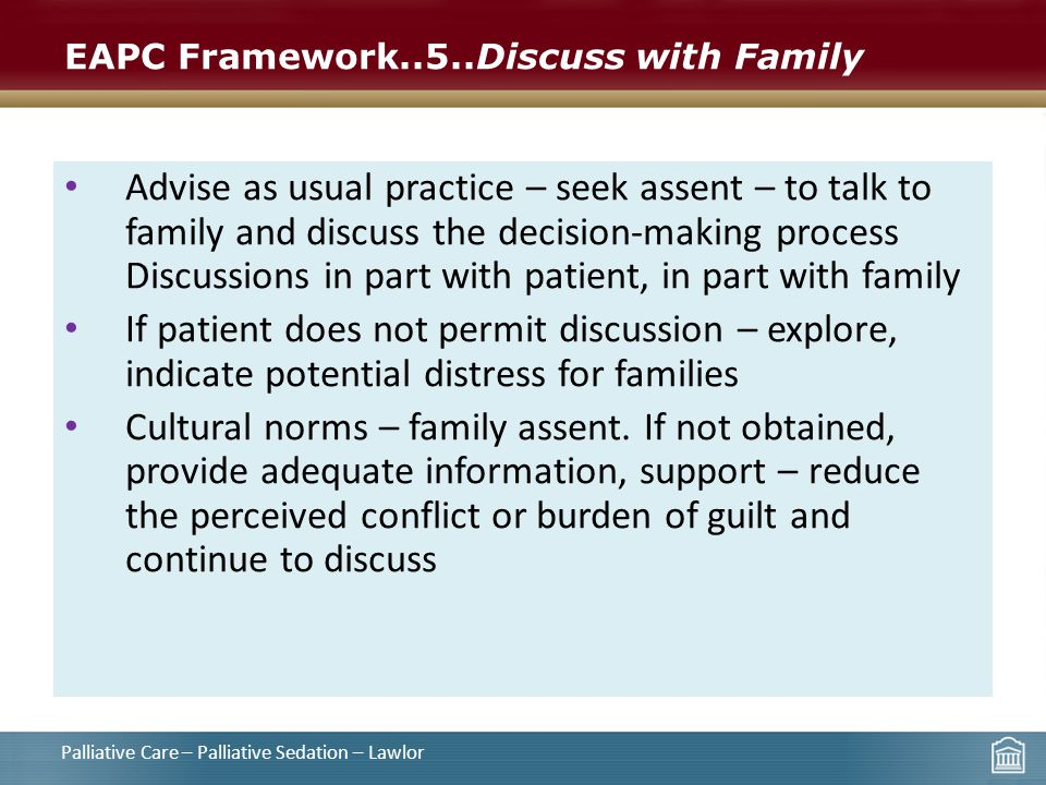 EAPC Framework..5..Discuss with Family