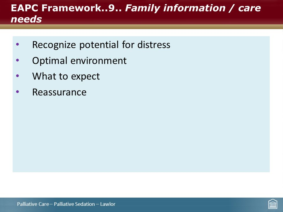 EAPC Framework..9.. Family information / care needs
