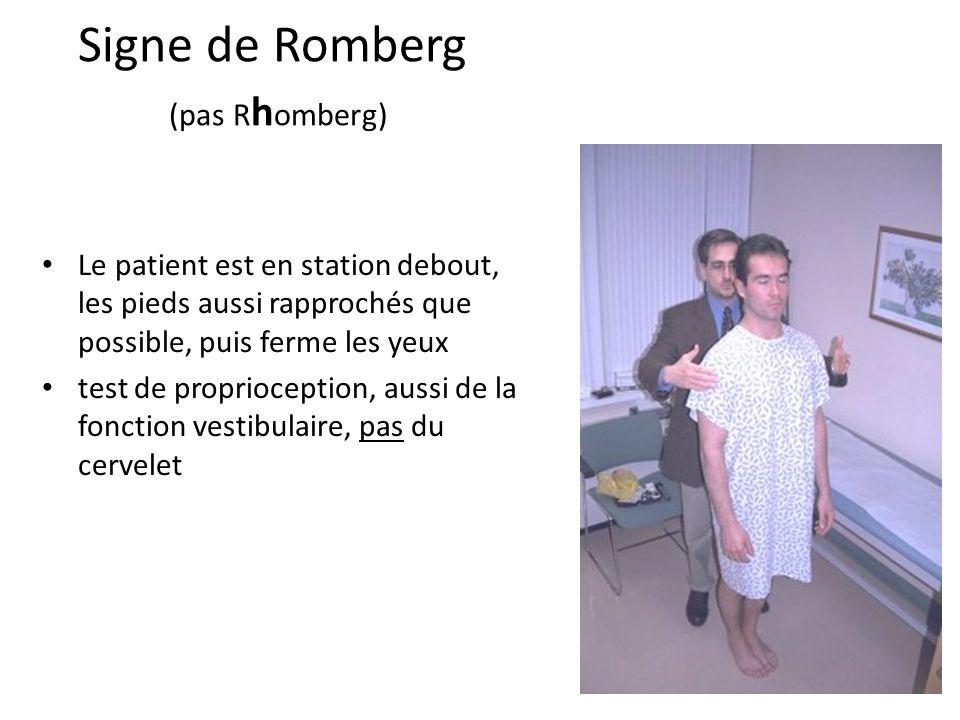 Signe de Romberg (pas Rhomberg)