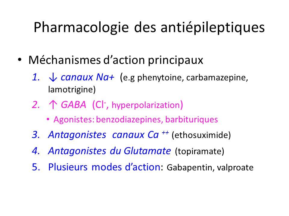 Pharmacologie des antiépileptiques