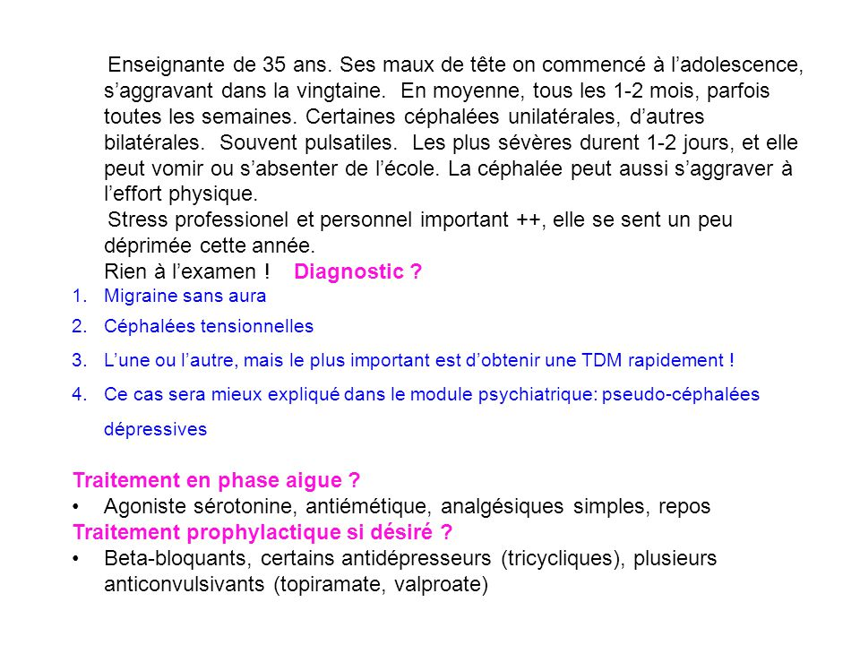 Rien à l'examen ! Diagnostic