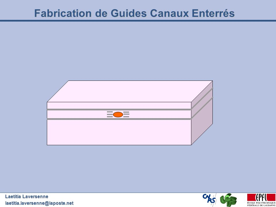 Fabrication de Guides Canaux Enterrés