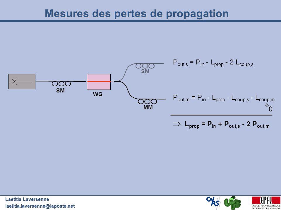 Mesures des pertes de propagation