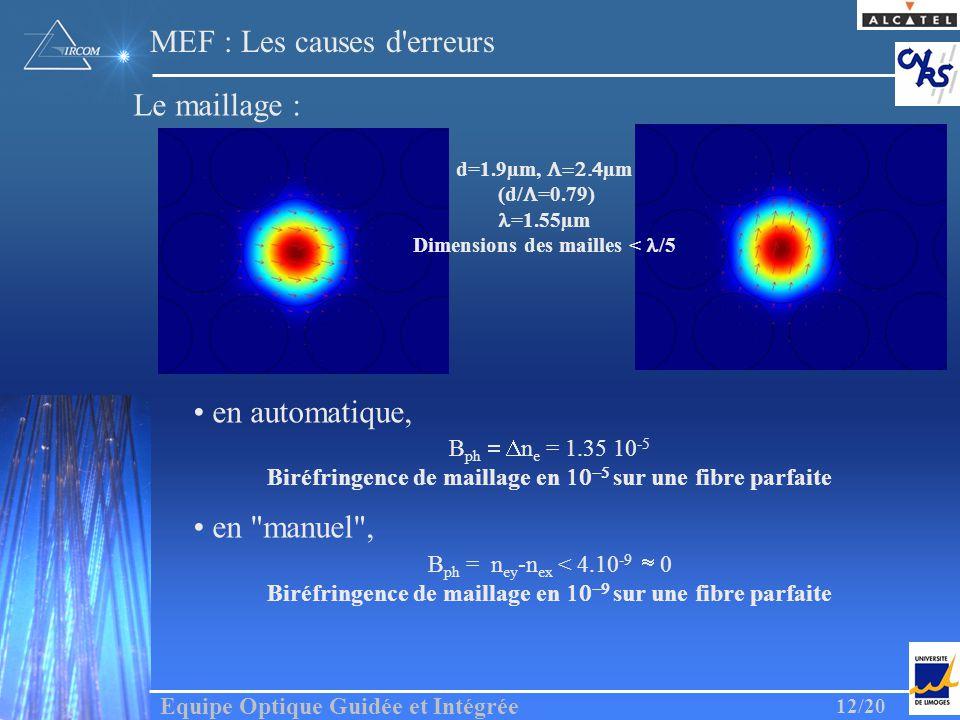 MEF : Les causes d erreurs