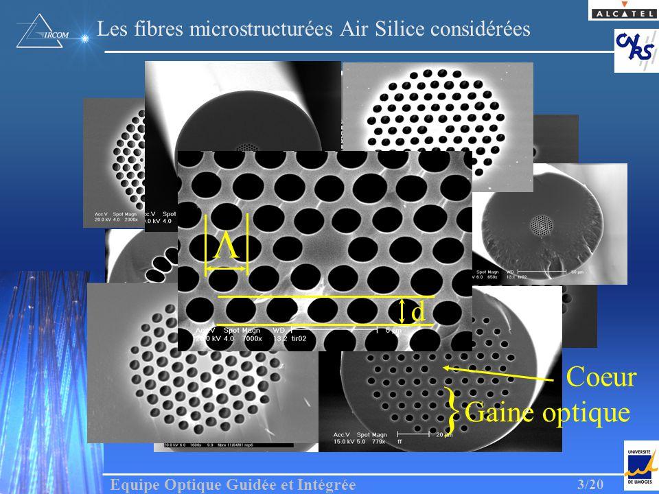 Les fibres microstructurées Air Silice considérées
