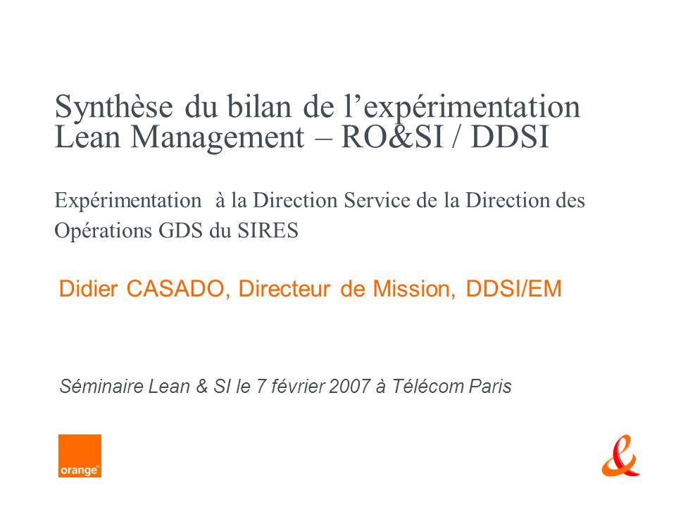 Didier CASADO, Directeur de Mission, DDSI/EM