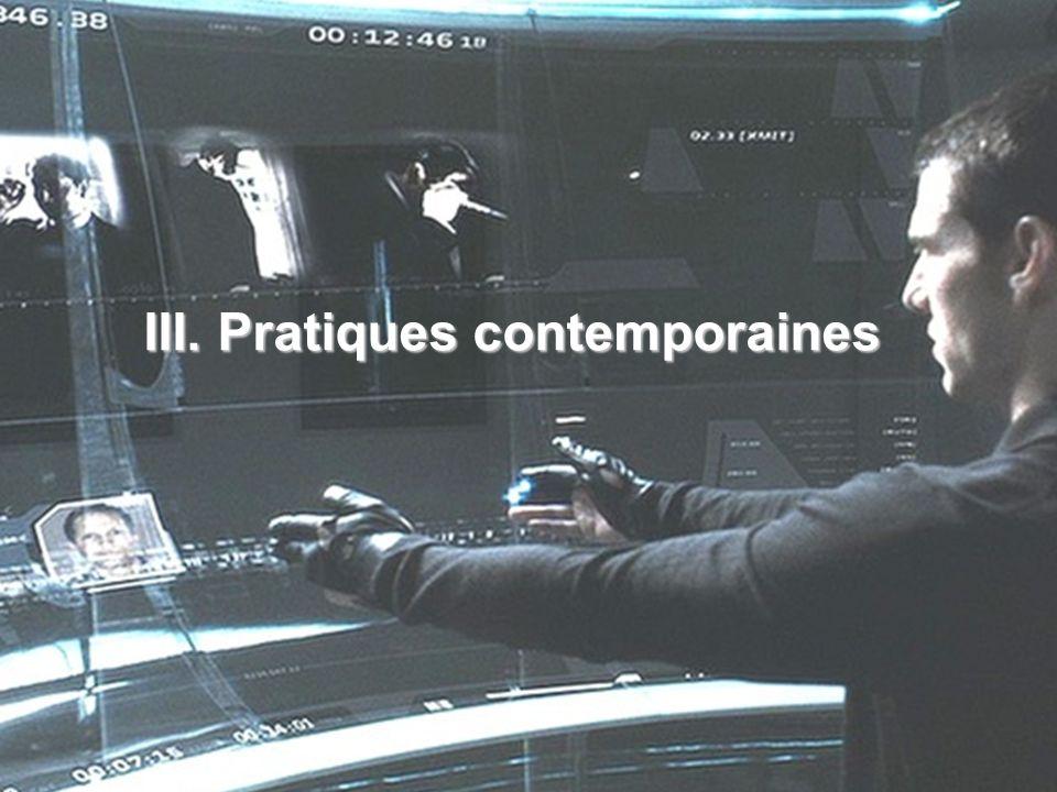 III. Pratiques contemporaines