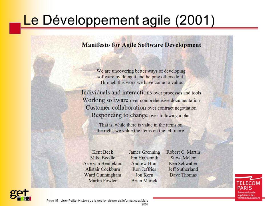 Le Développement agile (2001)