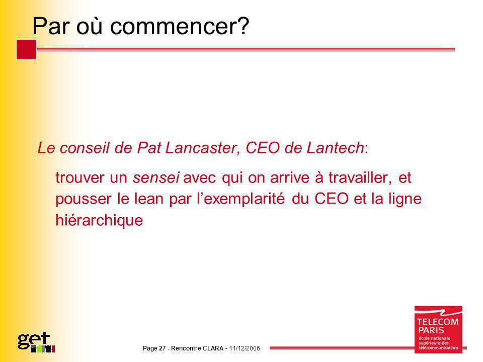 Par où commencer Le conseil de Pat Lancaster, CEO de Lantech: