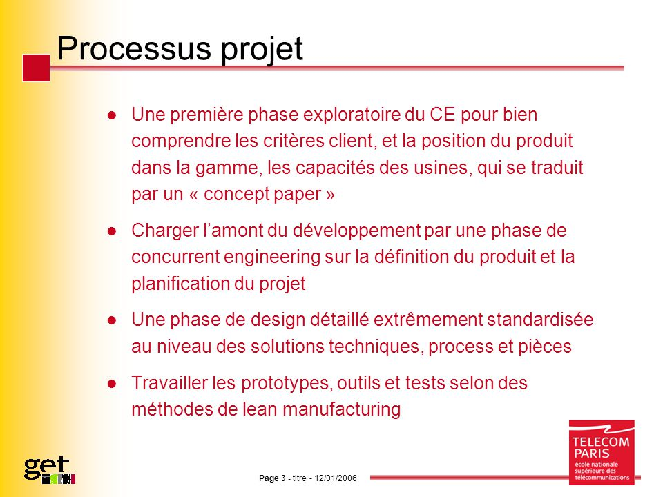 Processus projet