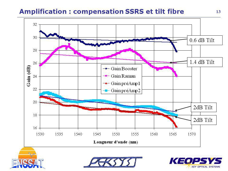 Amplification : compensation SSRS et tilt fibre