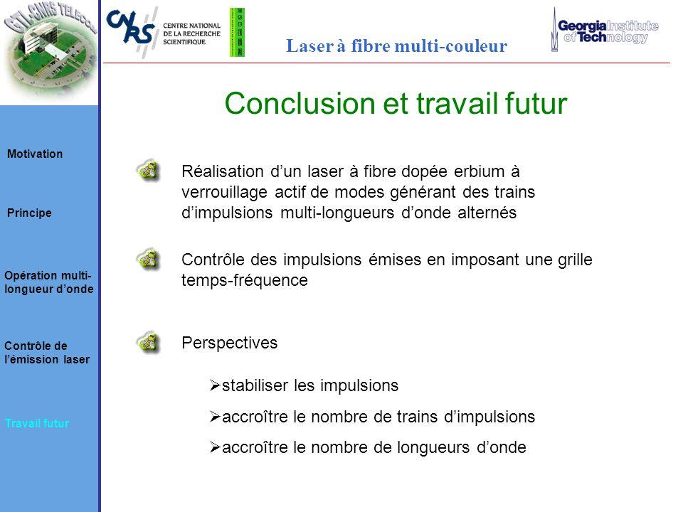 Conclusion et travail futur