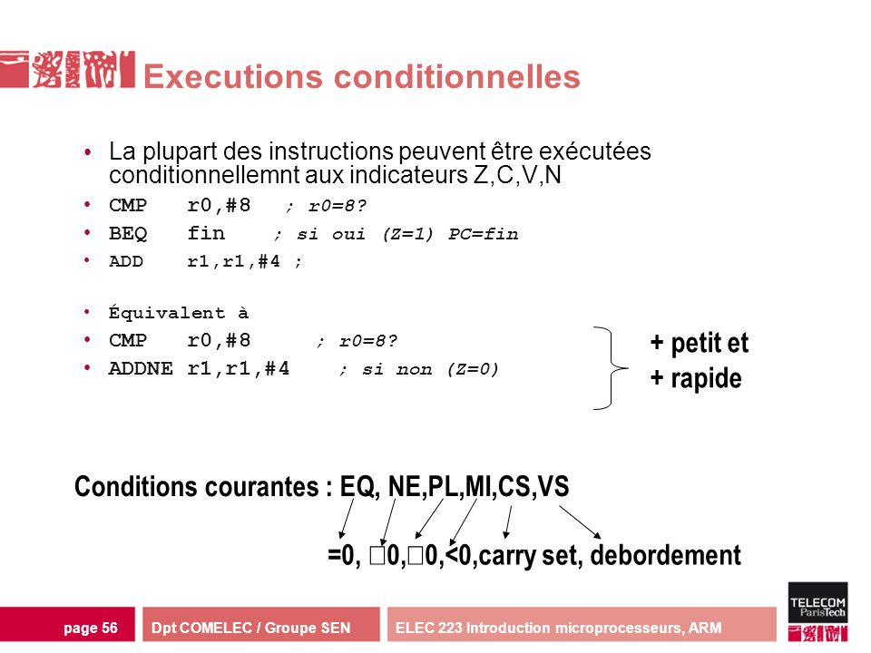 Executions conditionnelles